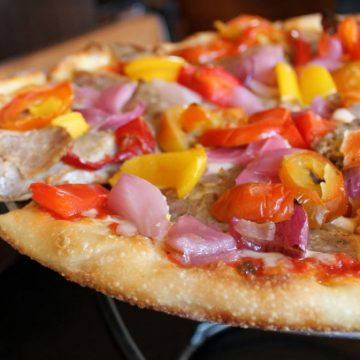 Pepper and Onion Pizza